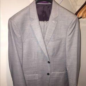 NWOT Topman Gray Men's Slim Fit Suit 38R / 32R